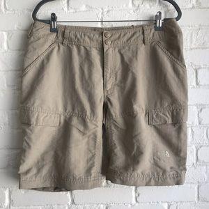 The North face outdoor nylon khaki shorts size 14